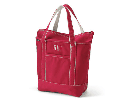 Top gifts for babies: Medium Colored Zip Top Tote Bag from Lands' End