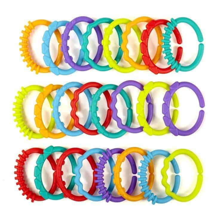 Xmas gifts for newborns: Bright Starts Lots of Links- Solid Colors