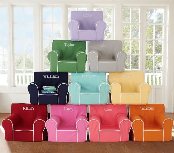 Baby Christmas present ideas: Anywhere Chair | Pottery Barn Kids