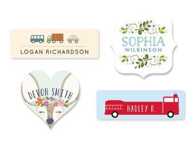 Gift ideas for newborn: custom name labels
