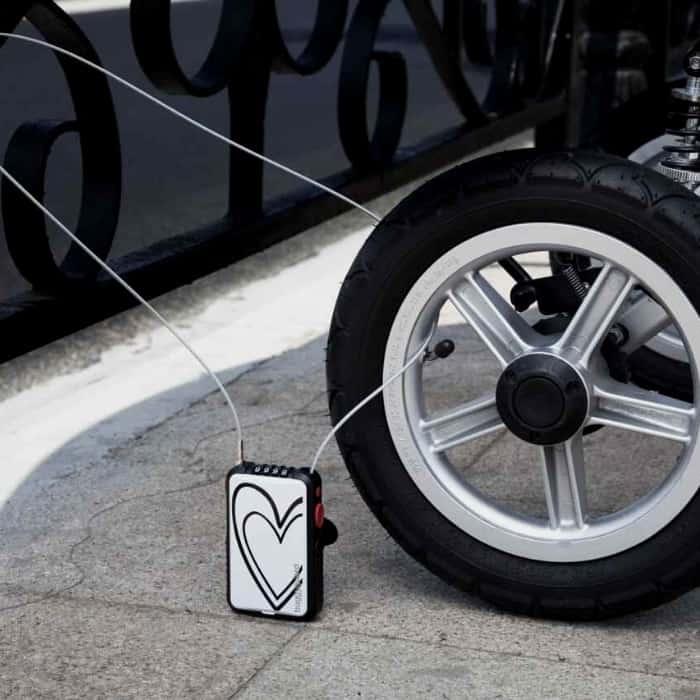 stroller lock on wheel