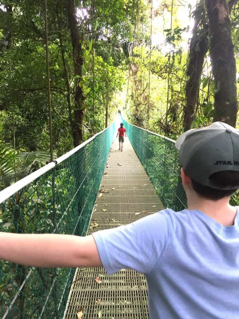 Skywalk with very safe (but swingy) suspension bridges.