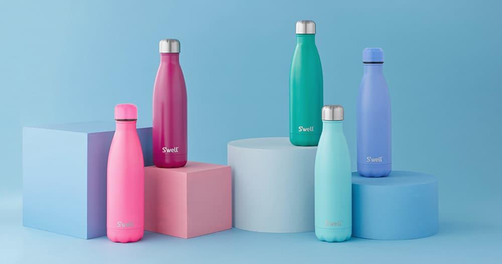 Water bottle for a breastfeeding basket