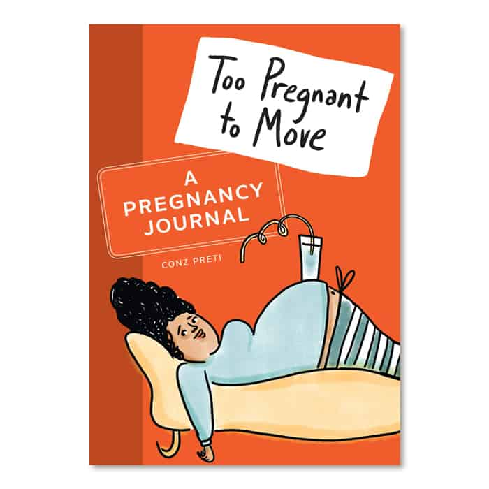 too pregnant to move book