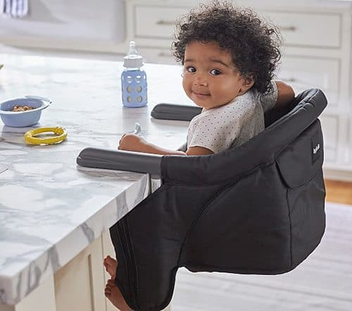 Best Baby Travel Products: portable travel high chair for babies.