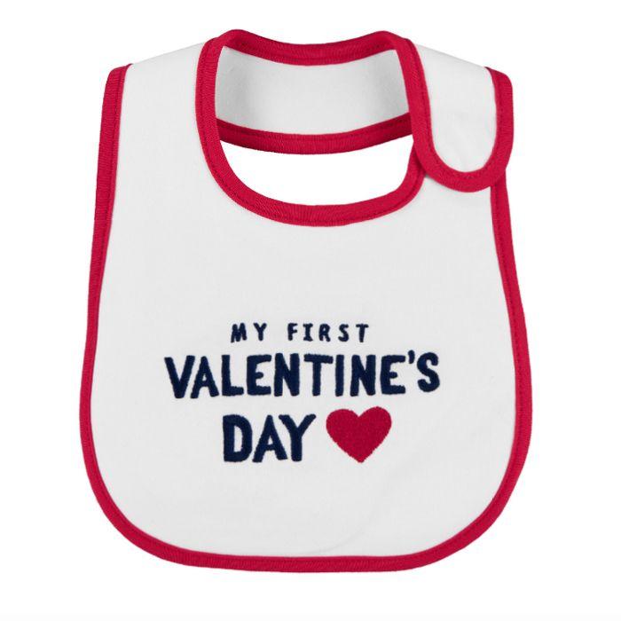 my first valentine's day baby bib - Baby's First Valentine's Day Gifts idea