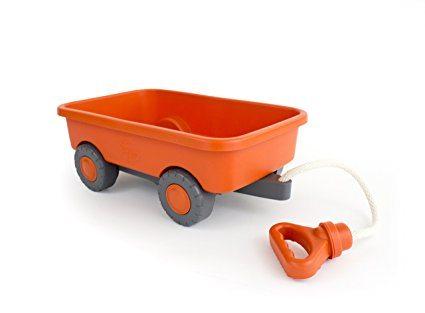 green toys orange wagon as a baby gift