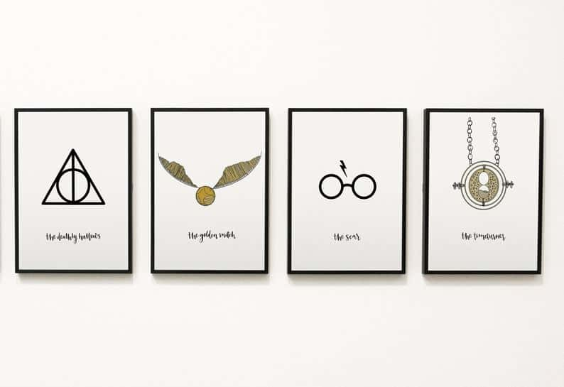 four printable wall art prints from Harry Potter