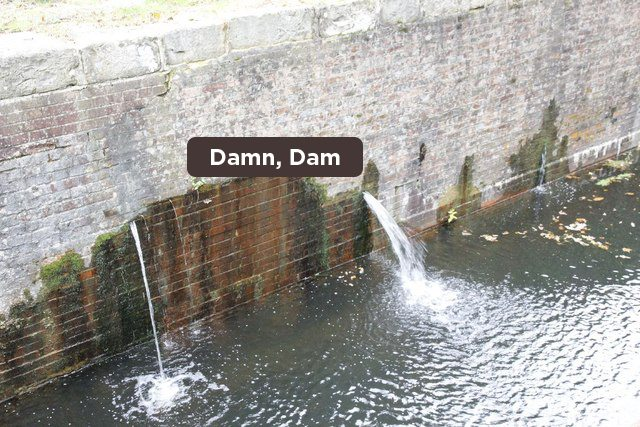 water breaking dam