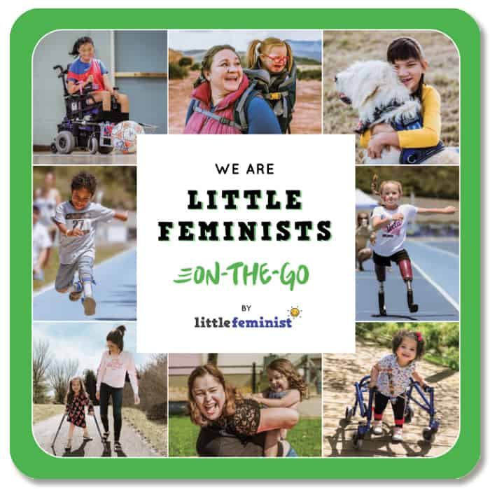 Cover of We Are Little Feminists On the Go as example of diverse books for building baby's first library