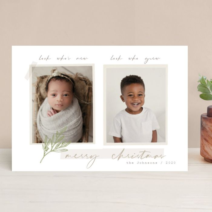 14 of the Nicest Birth Announcement Holiday Cards. Siblings.