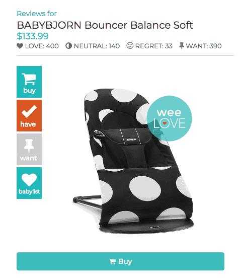 Weeeee weeSpring Review, babybjorn bouncer weespring