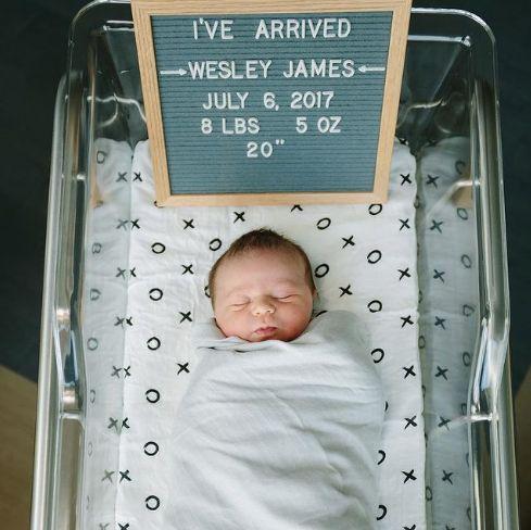 letterboard birth announcement