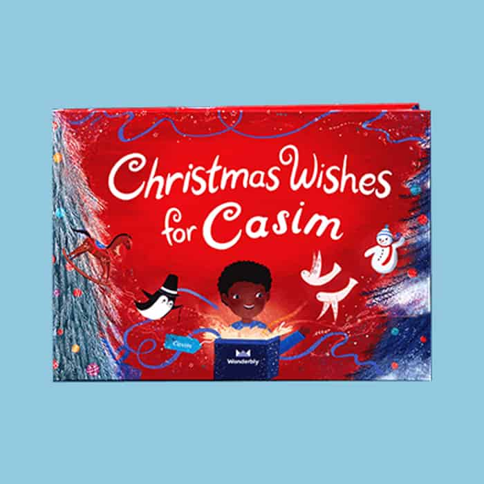 Christmas Wishes for Casim custom book. Best Holiday Gifts for Newborns 2020