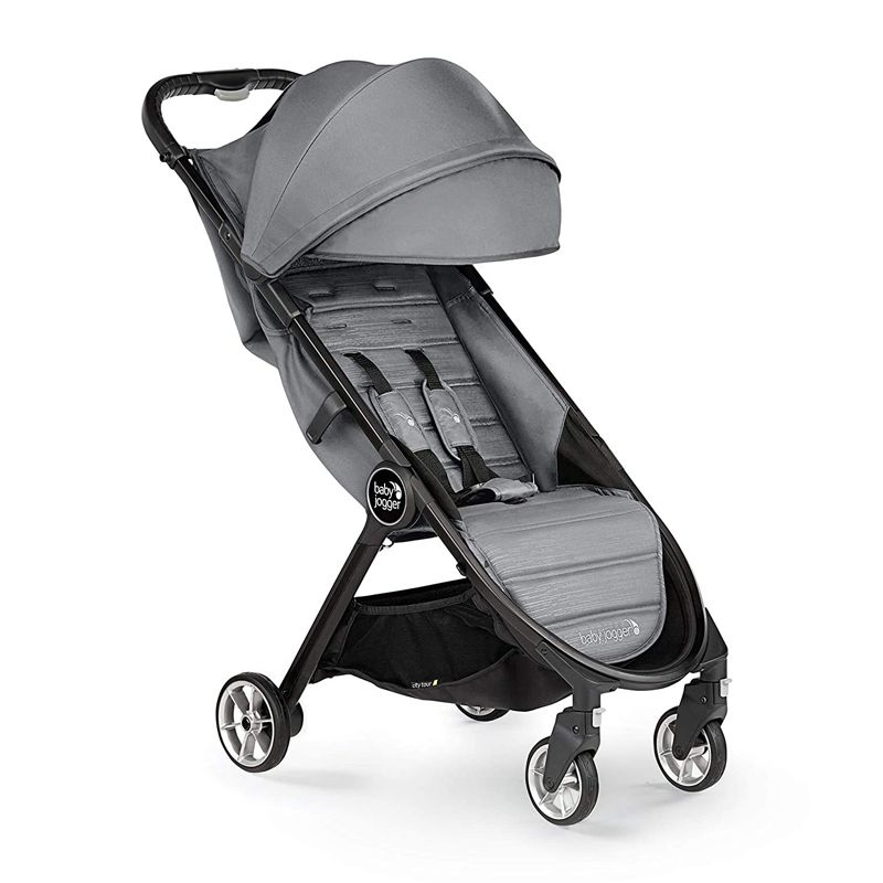 Baby Jogger City Tour 2 Single StrollerContours travel stroller in black and gray
