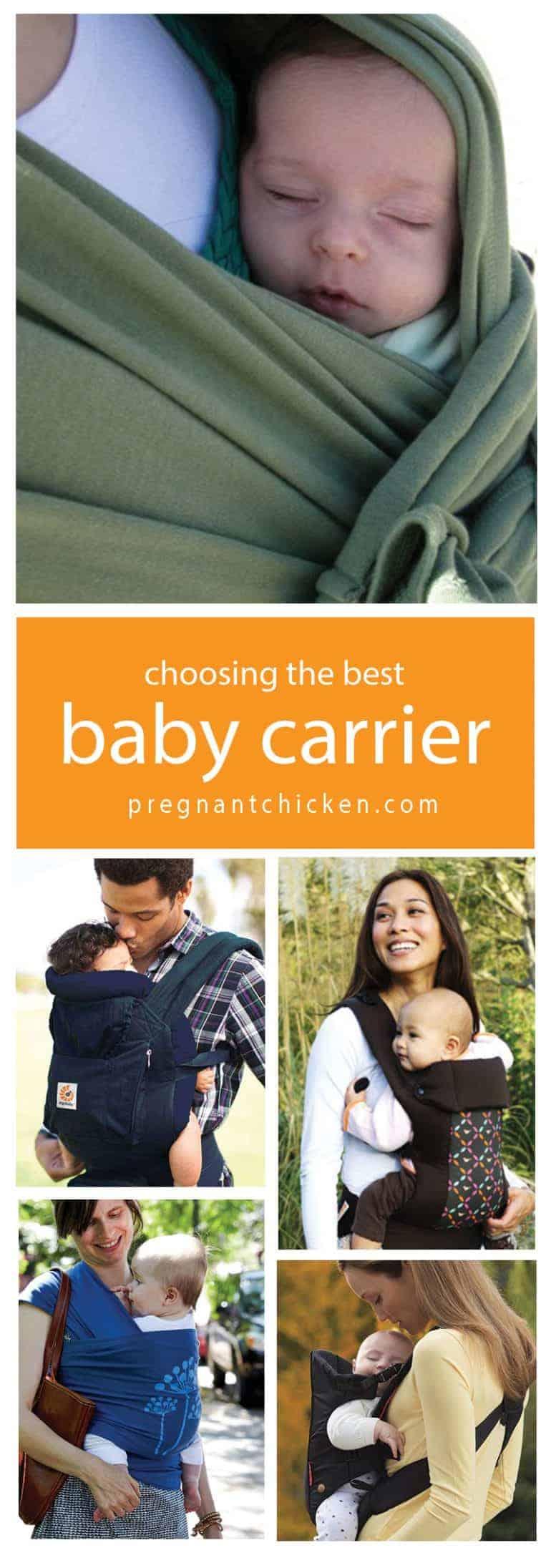 Choosing the best baby carrier