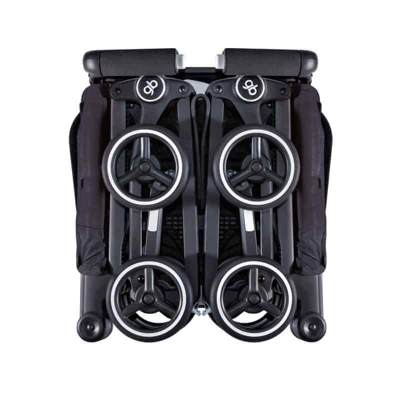 gb pockit compact stroller folds to a super compact size. gb pockit compact stroller fold