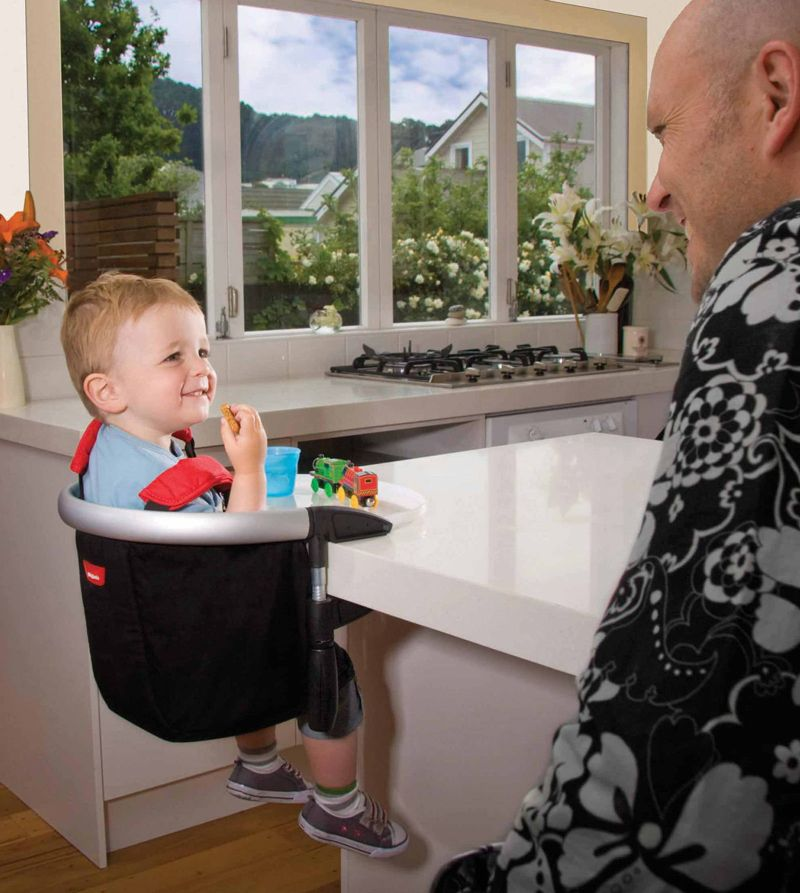 things to keep at grandma's house - toddler sitting in high chair