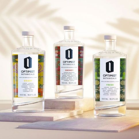 Optimist Botanicals' no alcohol gin, vodka and tequila
