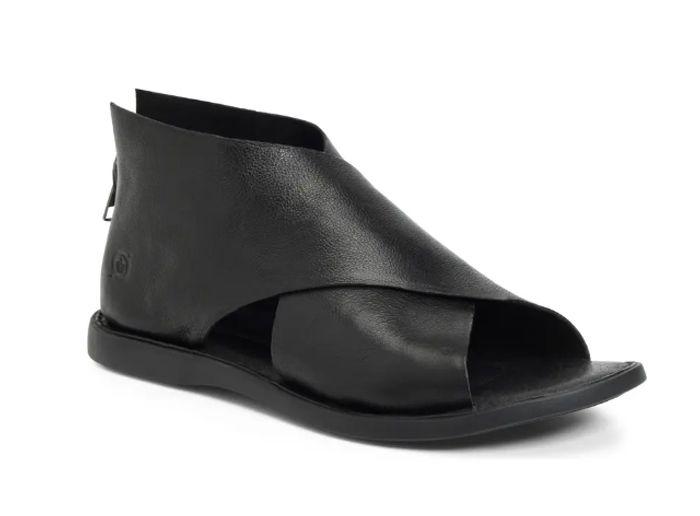 Black Leather Børn IWA Sandal